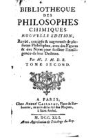 Bibliotheque des philosophes chimiques t2 (1741)