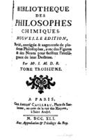 Bibliotheque des philosophes chimiques t3 (1741)