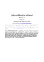 Colloidal Silver User Manual