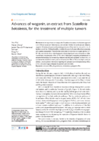 Advances of wogonin, an extract from Scutellaria baicalensis