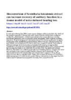 Bioconversion of Scutellaria baicalensis extract can increase recovery of auditory