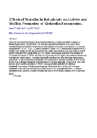 Effects of Scutellaria Baicalensis on Activity and Biofilm Formation of Klebsiella Pneumoniae