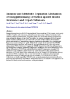 Immune and Metabolic Regulation Mechanism of Dangguiliuhuang Decoction against Insulin Resistance and Hepatic Steatosis
