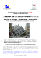 Le seisme et les sites constructibles