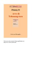 Oeuvre de Tchouang-Tseu