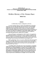 THe hidden history of the human race 1998