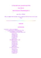 Traité sur les Sept Rayons (Volume 2) – Psychologie Esotérique