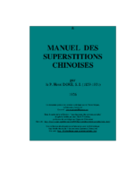 manuel superstitions chinoises