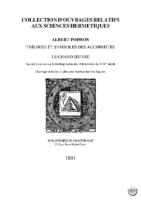 theorie et symboles des alchimistes